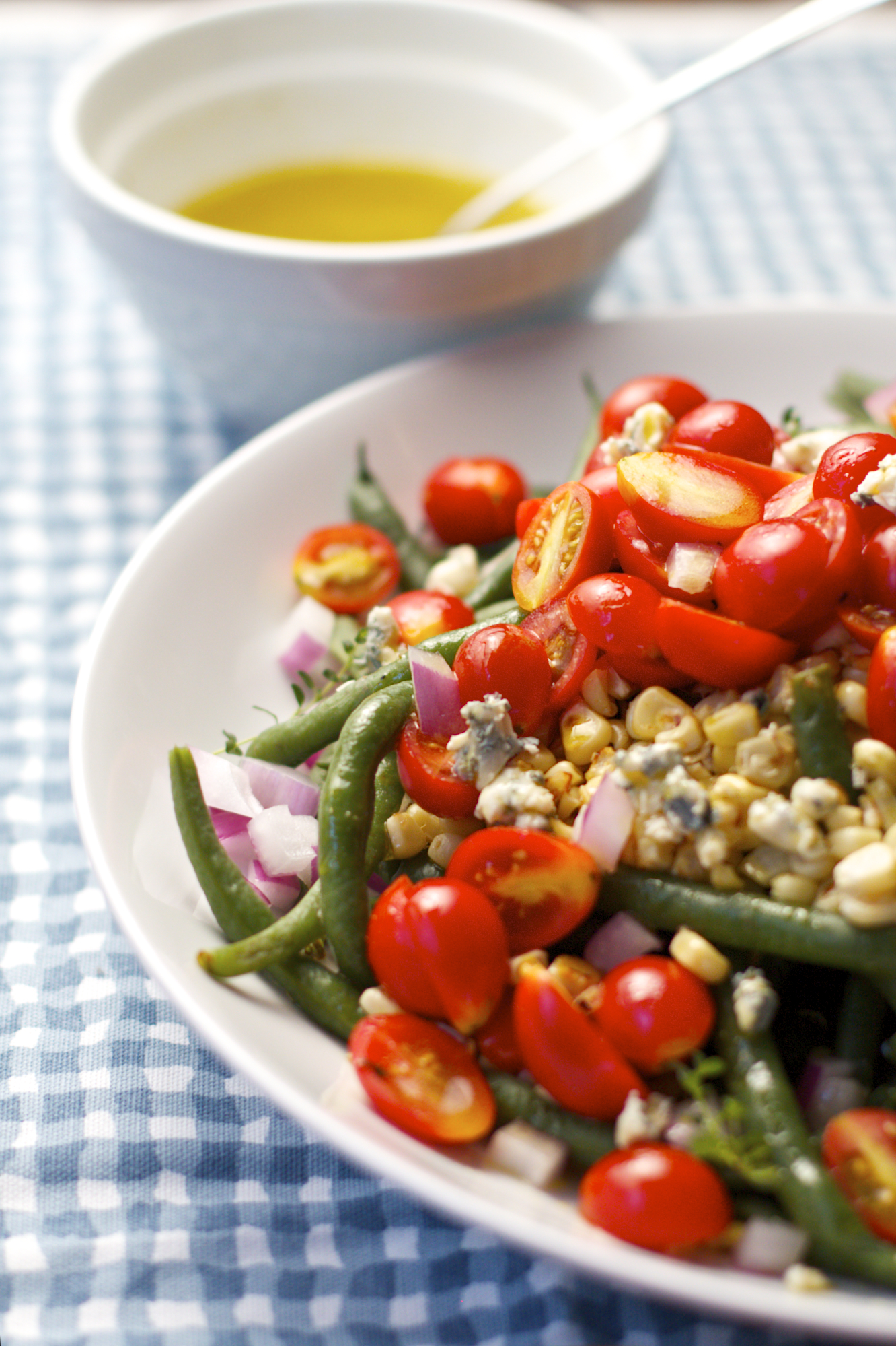 Simple Green Bean Corn and Tomato Salad with Vinaigrette - Sass ...
